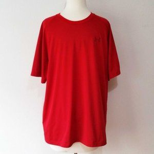 Under Armour Red Loose Fit Heat Gear T Shirt